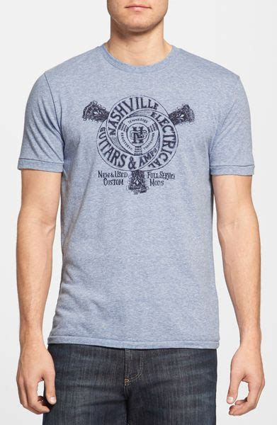 Lucky Brand Guitar Shop Graphic T-shirt in Blue for Men