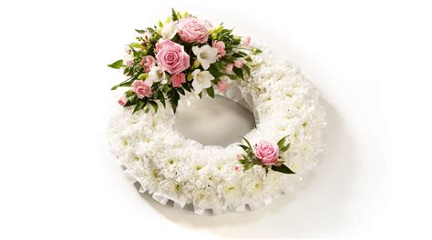 Classic White Funeral Flower Wreath - Co-op