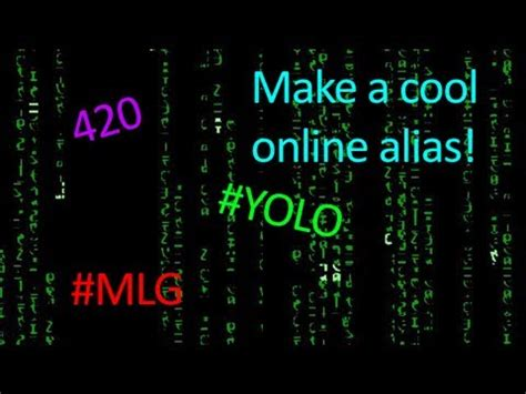 Quick Tutorial: How To Create A Cool Online Name - YouTube